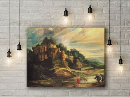 Peter Paul Rubens: Landscape with the Ruins of Mount Palatine. Fine Art Canvas.
